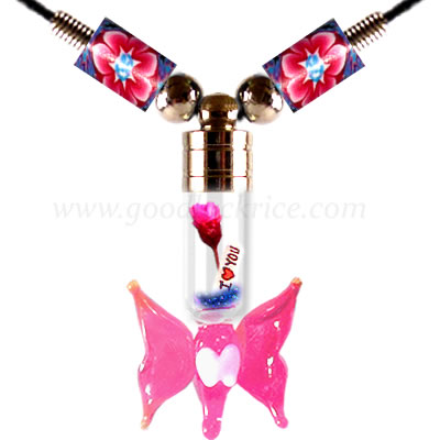 RB-33PINK (Pink Butterfly Bottle)