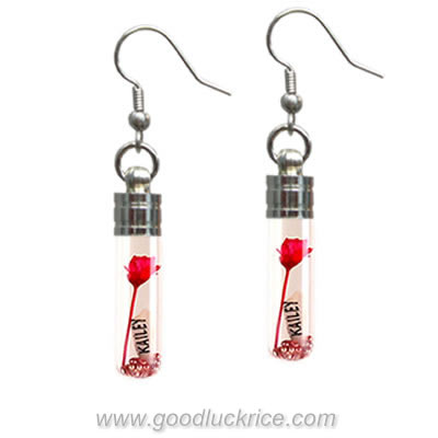 Name on Rice Earring